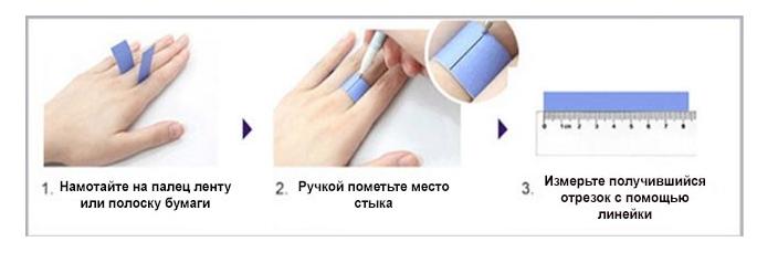 Как узнать размер пальца для кольца фрея